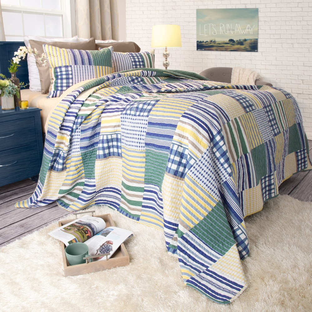 3pc Full Queen Lynsey Quilt Set Yorkshire Home