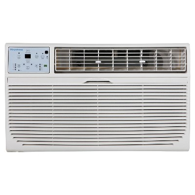 """Keystone 12000-BTU 115V Through-the-Wall Air Conditioner KSTAT12-1C with """"Follow Me"""" LCD Remote Control - White"""