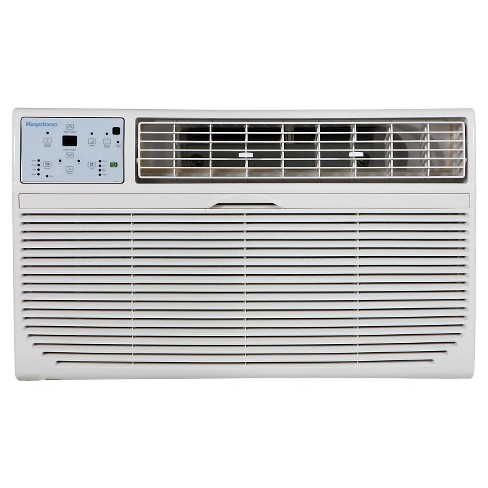 "Keystone - 10000-BTU 230V Through-the-Wall Air Conditioner with ""Follow Me"" LCD Remote Control - White - image 1 of 4"