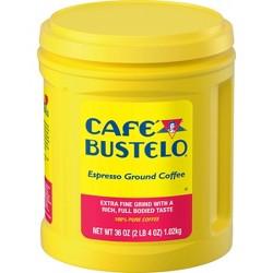 Cafe Bustelo Espresso Dark Roast Ground Coffee - 36oz