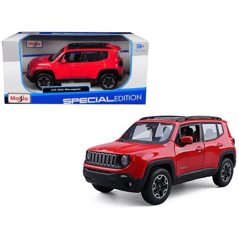 Red Jeep Renegade >> Jeep Renegade Red 1 24 Diecast Model Car By Maisto