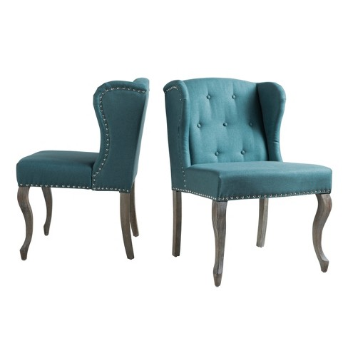Admirable Niclas Accent Chair Dark Teal Set Of 2 Christopher Knight Home Lamtechconsult Wood Chair Design Ideas Lamtechconsultcom