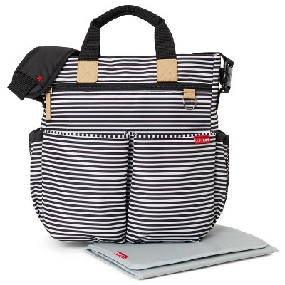 Skip Hop Duo Signature Diaper Bag - Black & White Stripe