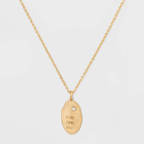 Only One You Short Necklace - Gold - image 1 of 3