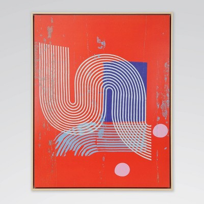 Gooey Shapes 2 Framed Abstract Art Print