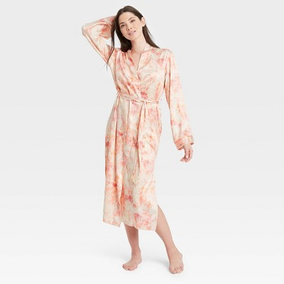 Women's Tie-Dye Satin Robe - Stars Above™ Pink