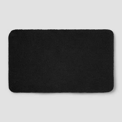 23 x37  Soft Nylon Solid Bath Rug Black - Opalhouse™