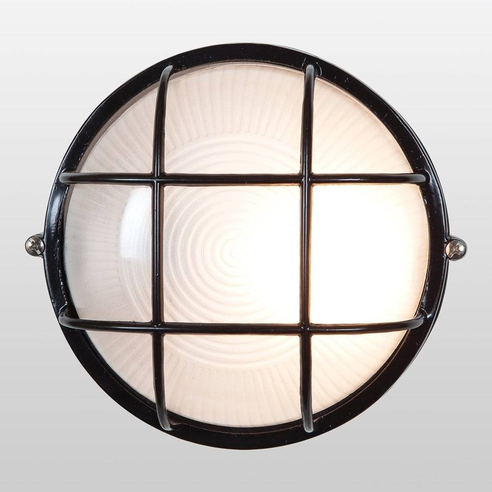 "Image of ""10"""" Nauticus Round Outdoor Wall Light Black - Access Lighting"""
