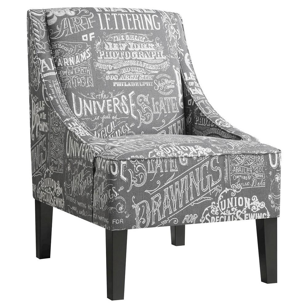 Chalkboard Shadow Accent Chair - Pulaski, Stone Grey