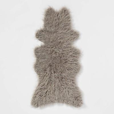 Faux Fur Sheepskin Throw Blanket - Threshold™