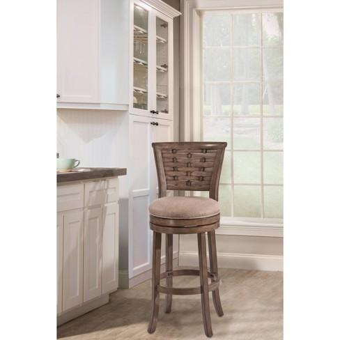 30 Thredson Swivel Barstool Wood Gold Hillsdale Furniture Target