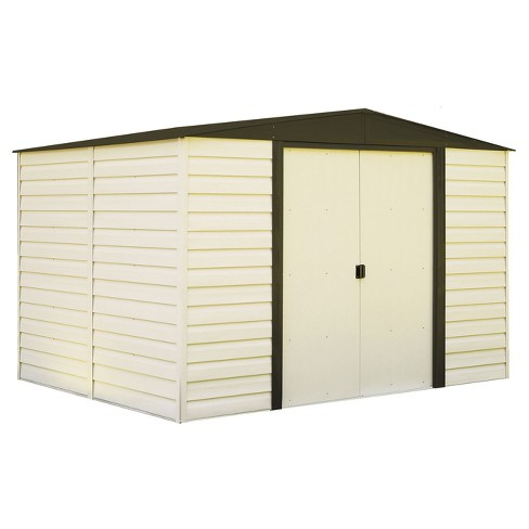 Vinyl Dallas Vinyl Coated Steel Storage Shed 10' X 8' - Arrow Storage Products - image 1 of 3