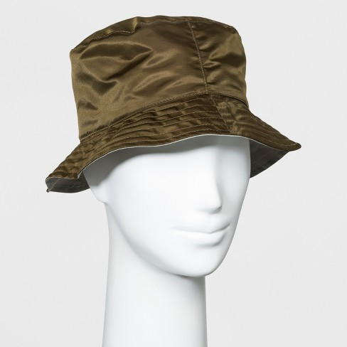 Women's Reversible Rain Bucket Hat - A New Day™ Light Olive - image 1 of 1