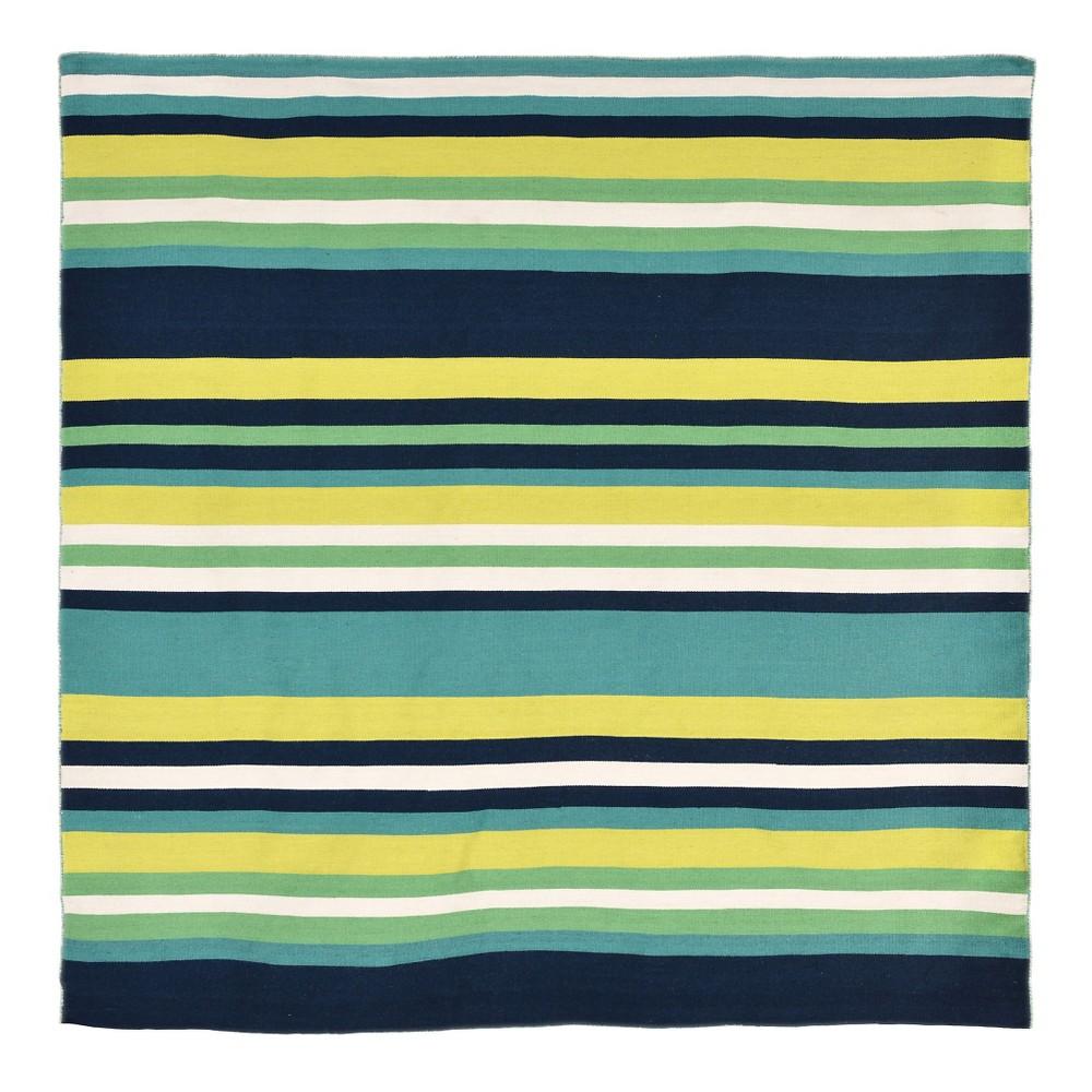 Sorrento Tribeca Indoor/Outdoor Area Rug - Green - (8'x8') - Liora Manne