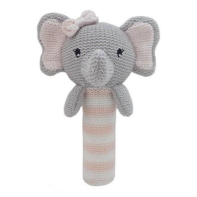 Living Textiles Baby Huggable Knit Rattle - Mia Elephant