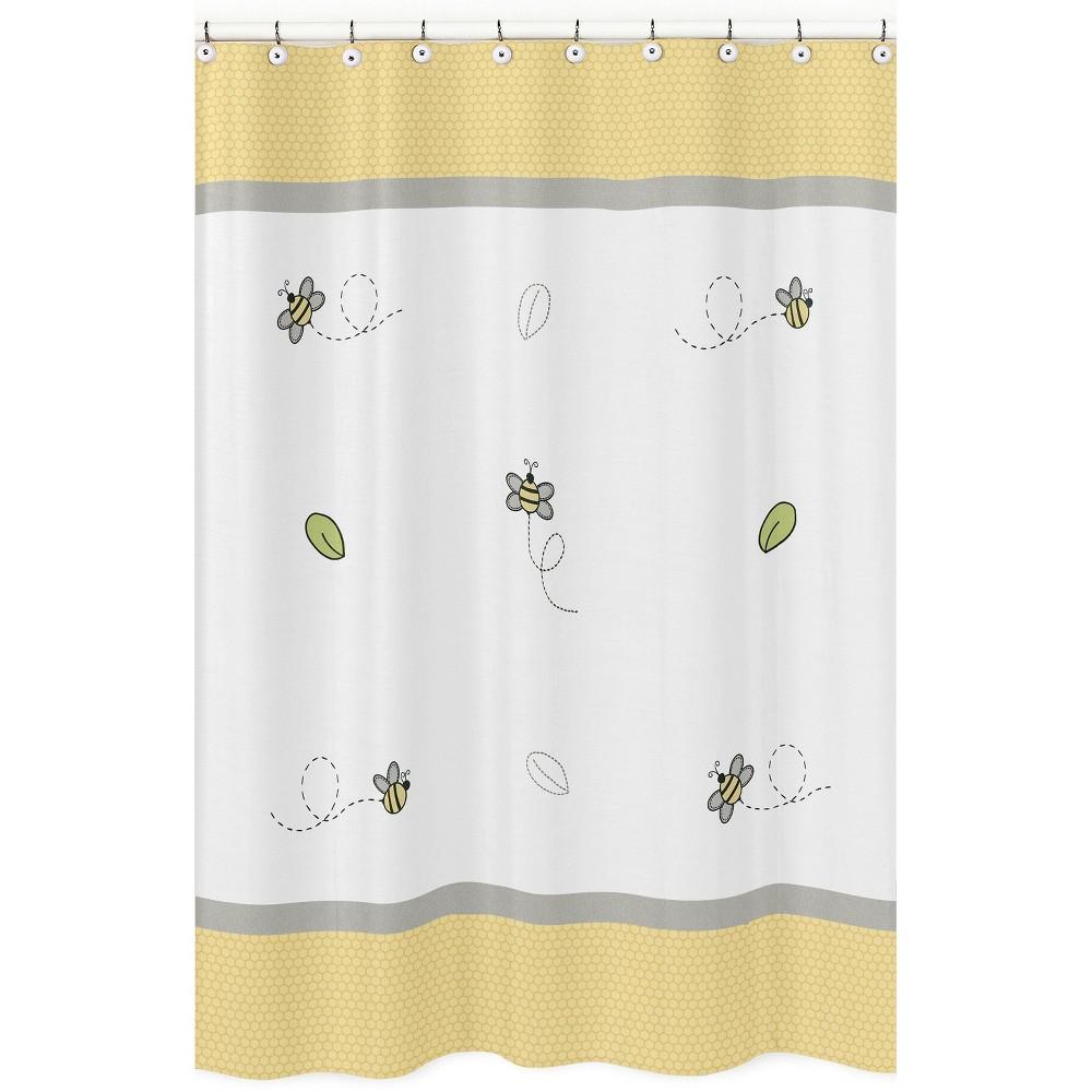 Honey Bee Shower Curtain White/Yellow - Sweet Jojo Designs