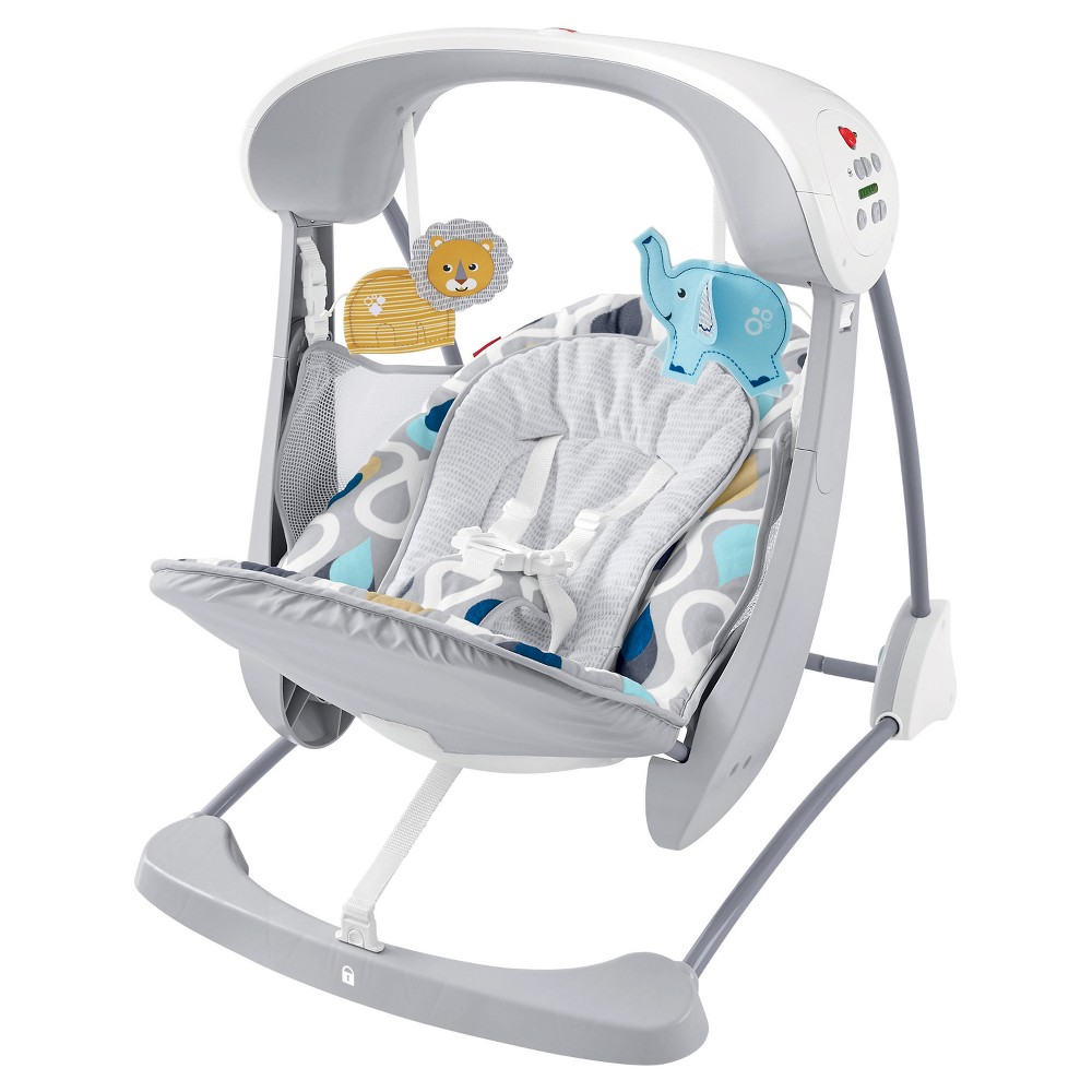 Image of Fisher-Price Deluxe Take-Along Swing & Seat - Joyful Drops