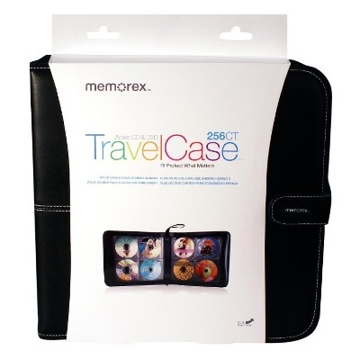 Memorex CD/DVD TravelCase Faux Leather Wallet 256ct