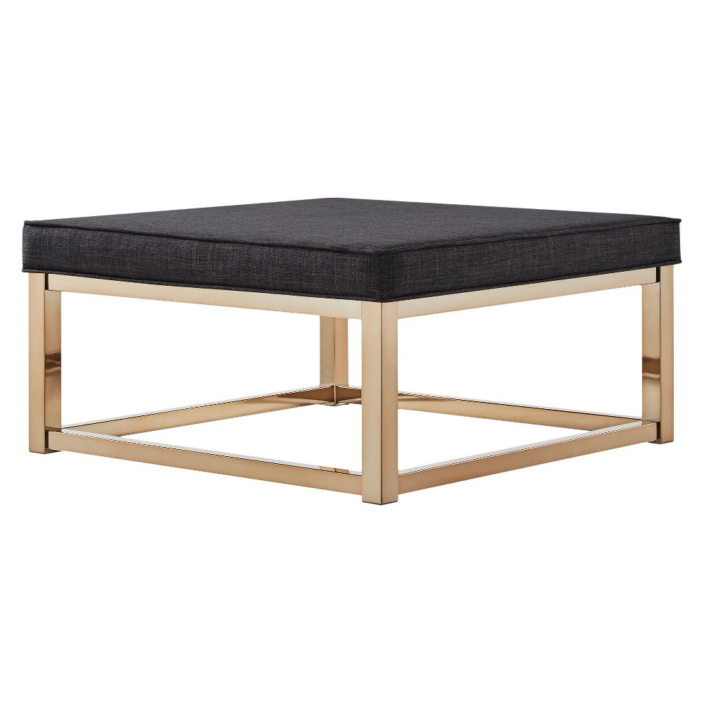 Fontaine Champagne Cocktail Ottoman Charcoal (Grey) - Inspire Q