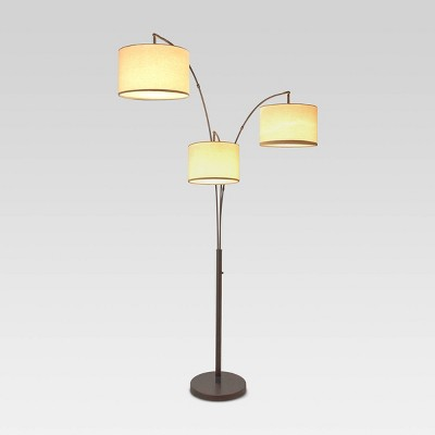 Avenal Shaded Arc Floor Lamp Bronze Includes Energy Efficient Light Bulb - Project 62™