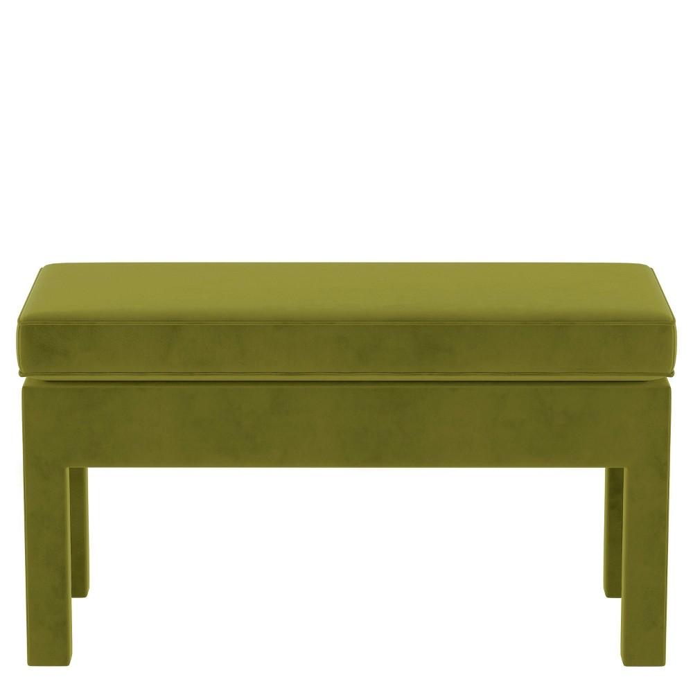 Upholstered Bench in Velvet Apple Green - Threshold