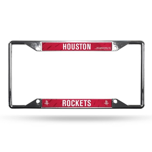 NBA Houston Rockets View Chrome License Plate Frame - image 1 of 1
