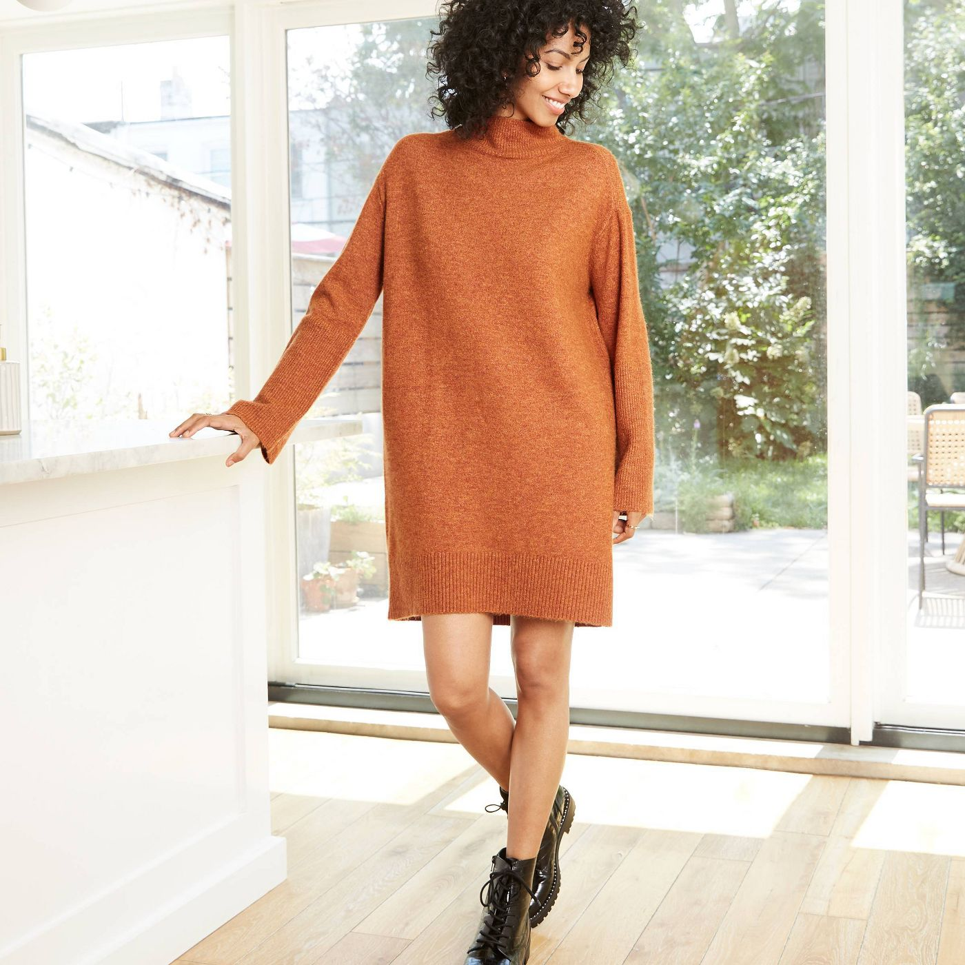 Women's Long Sleeve Sweater Dress - A New Day™  - image 1 of 14