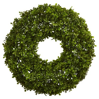 Boxwood Wreath (22 )- Nearly Natural