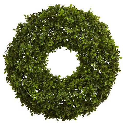 "Boxwood Wreath (22"") - Nearly Natural - image 1 of 2"