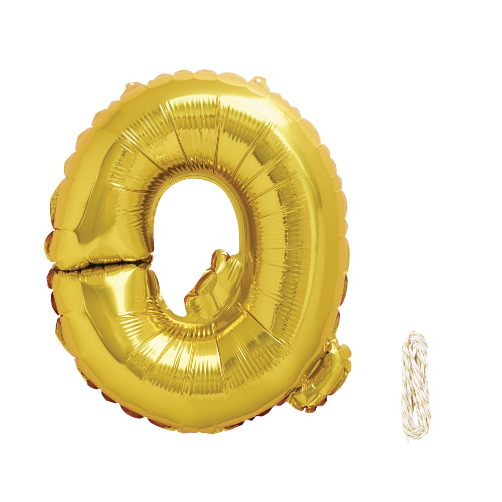 "Image of ""16"""" Q Foil Balloon Gold - Spritz"""