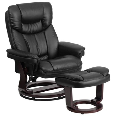 Contemporary Multi - Position Recliner and Ottoman - Riverstone Furniture Collection