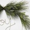 24in Pre-Lit JOY Flocked LED Wreath - Wondershop™ - image 3 of 3