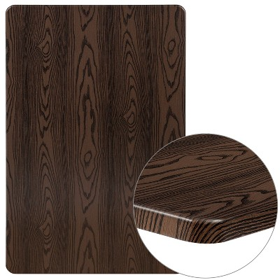 "Flash Furniture 30"" x 48"" Rectangular Rustic Wood Laminate Table Top"