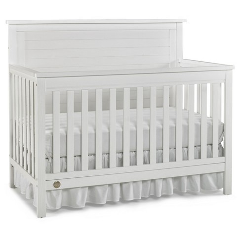 Fisher-Price Standard Full-sized Crib - Weathered Snow White - image 1 of 5