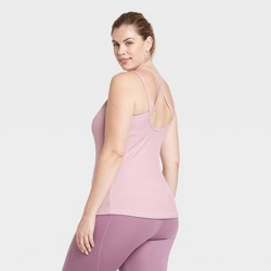 Women's Ribbed Tank Top with Shelf Bra - All in Motion™
