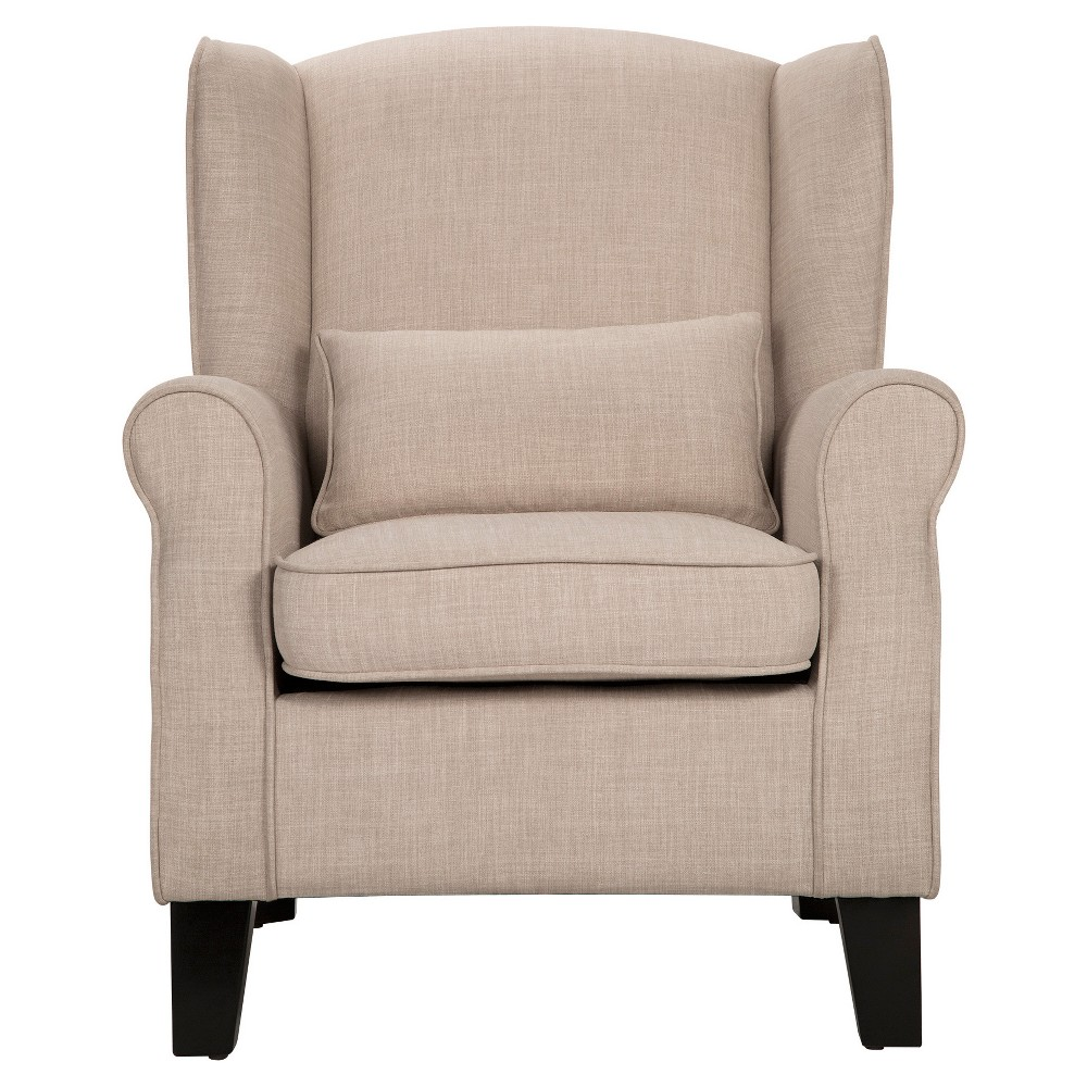 Lewison Wingback Arm Chair Oatmeal - Inspire Q