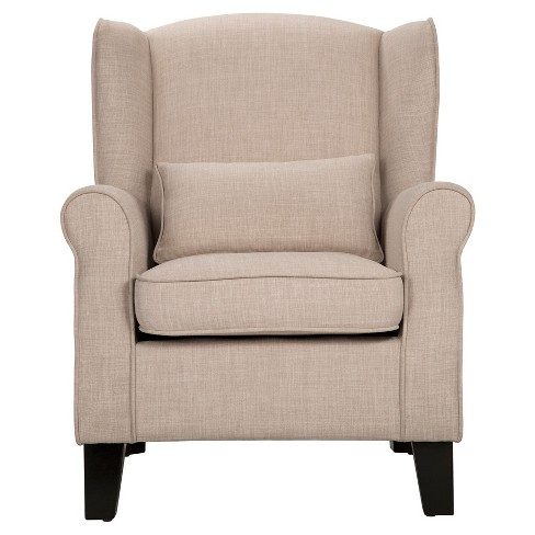 Lewison Wingback Arm Chair Oatmeal - Inspire Q® - image 1 of 8