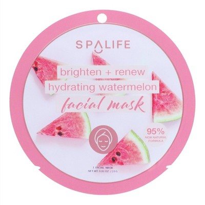 SpaLife Brighten and Renew Hydrating Watermelon Face Mask - 0.81oz