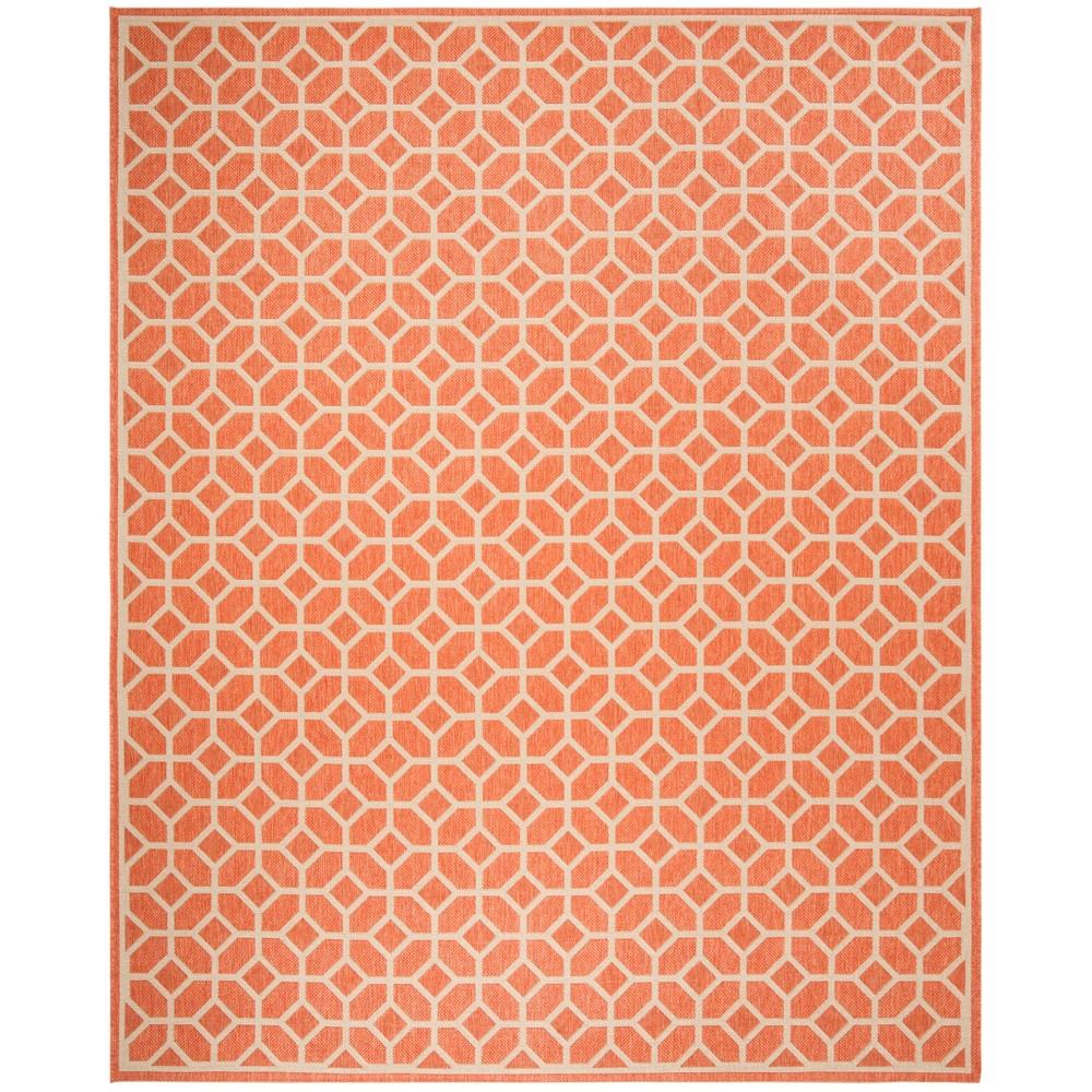 8'X10' Geometric Loomed Area Rug Rust (Red) - Safavieh