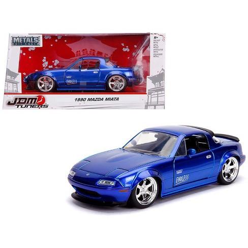 "1990 Mazda Miata ""Endless"" Candy Blue ""JDM Tuners"" 1/24 Diecast Model Car by Jada - image 1 of 4"