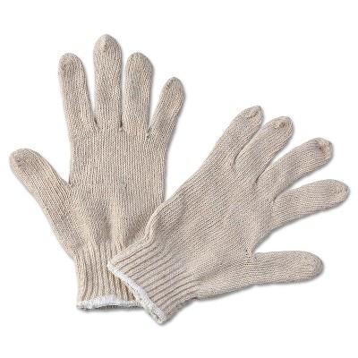 Boardwalk String Knit General Purpose Gloves Large Natural 12 Pairs 782