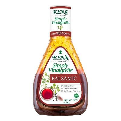 Ken's Steak House Simply Vinaigrette Balsamic Salad Dressing - 16 floz