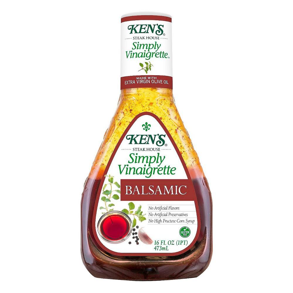 Ken's Steak House Simply Vinaigrette Balsamic Salad Dressing - 16 fl oz