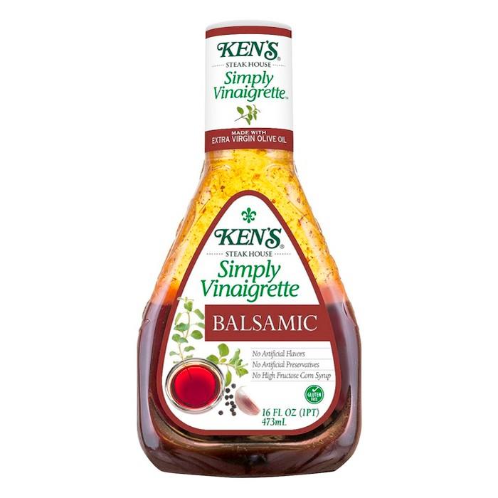 Ken's Steak House® Simply Vinaigrette Balsamic Salad Dressing - 16 fl oz - image 1 of 2