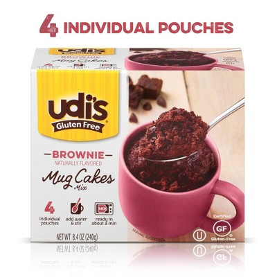 Udi's Gluten Free Chocolate Brownie Mug Cake - 8.4oz/4ct