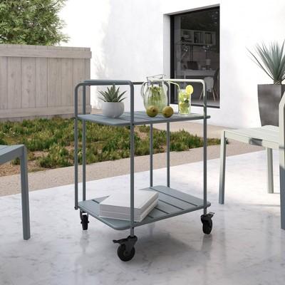 Penelope Indoor/Outdoor Cart - Gray - Novogratz