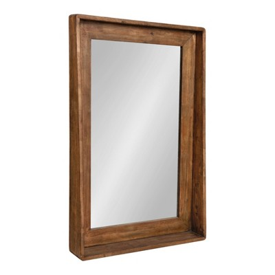 "24"" x 37"" Basking Wall Mirror with Shelf Brown - Kate and Laurel"