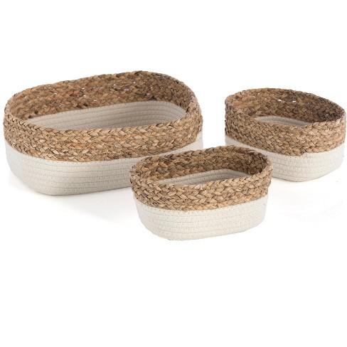 Set of 3 Ivory Dalton Organizer Baskets  - Off-White - Shiraleah - image 1 of 4