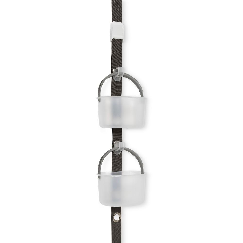 Solid Hanging Door Shower Caddy Gray - Made Smart