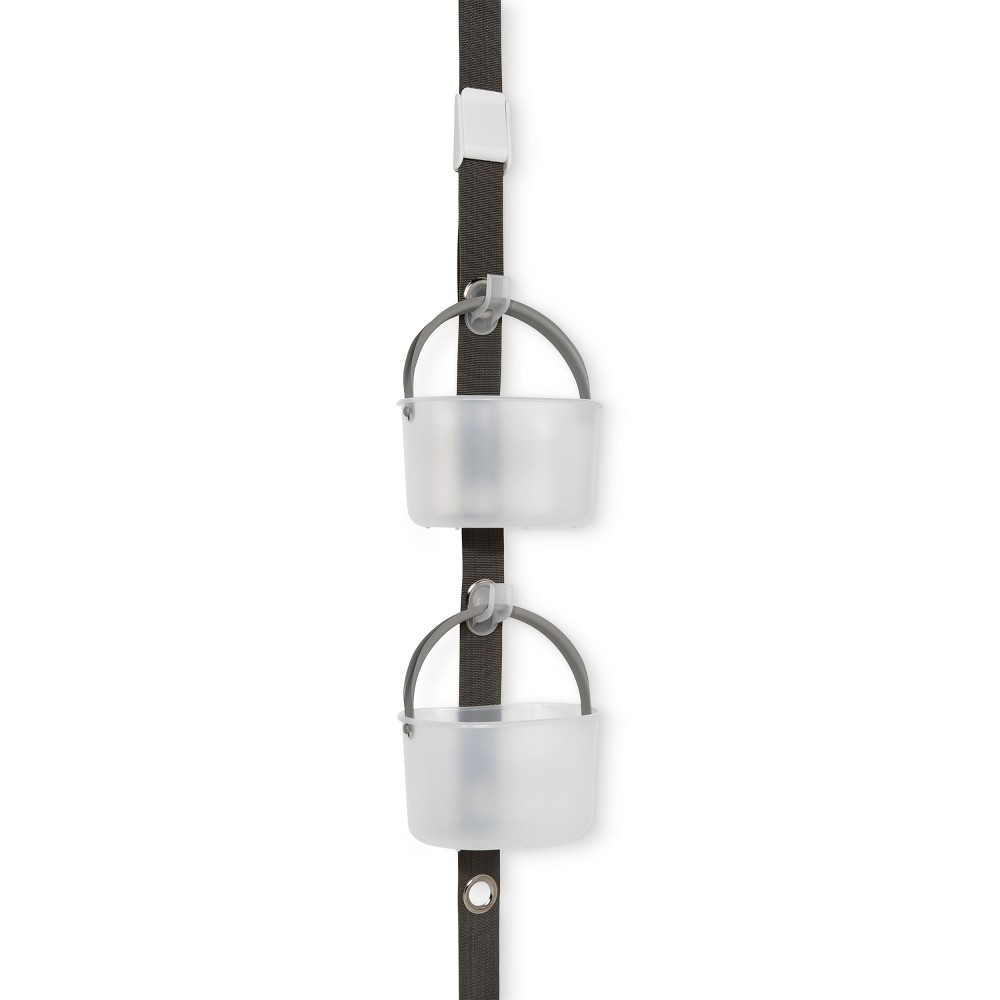 Image of Solid Hanging Door Shower Caddy Gray - Made Smart